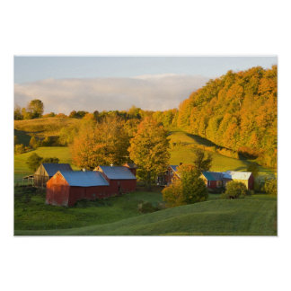 La granja de Jenne en Woodstock, Vermont. Caída. 2 Póster