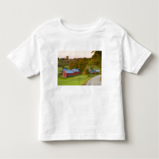 La granja de Jenne en Woodstock, Vermont. Caída Playera De Bebé