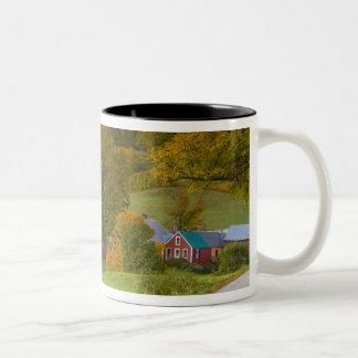 La granja de Jenne en Woodstock, Vermont. Caída Taza De Dos Tonos
