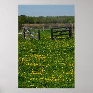 La granja de madera bloquea impresiones del poster