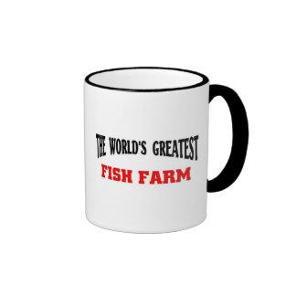 La granja de pescados más grande taza a dos colores