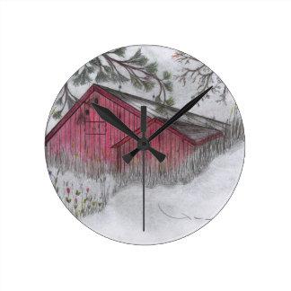 La granja de Roberto E Meisinger 2012 Reloj De Pared