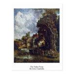 La granja del valle de John Constable Tarjeta Postal