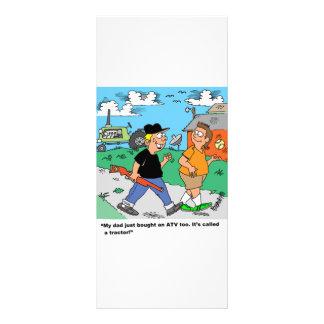 La granja embroma el dibujo animado de ATV /Tracto Diseño De Tarjeta Publicitaria