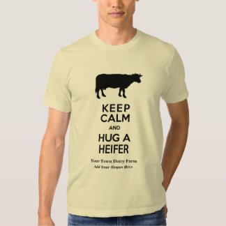 La granja lechera guarda calma y abraza una remeras