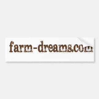 La granja soña a la pegatina para el parachoques pegatina para auto