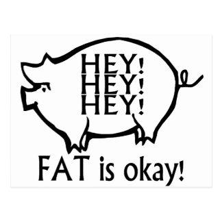 La grasa es aceptable tarjetas postales