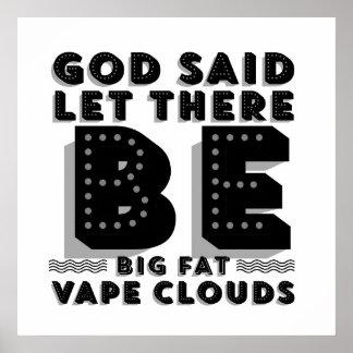 La grasa grande se nubla el poster superior
