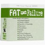 La grasa no iguala el fracaso - carpeta #4