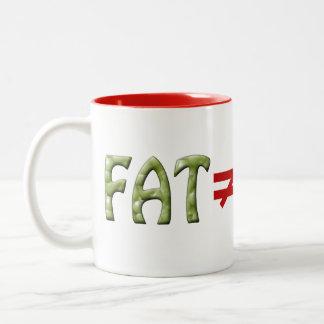 La grasa no iguala fracaso - asalte #3 taza