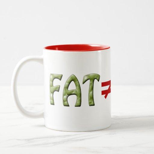 La grasa no iguala fracaso - asalte #3 taza de café de dos colores