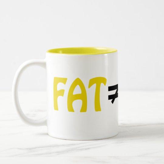 La grasa no iguala fracaso - asalte #6 taza de café de dos colores