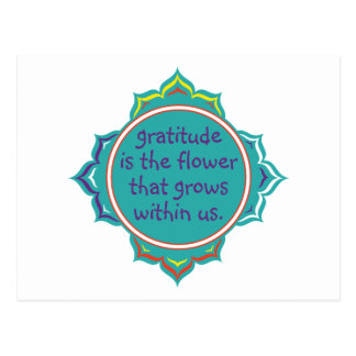 La gratitud es la flor tarjetas postales