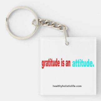 La gratitud es un llavero de la actitud