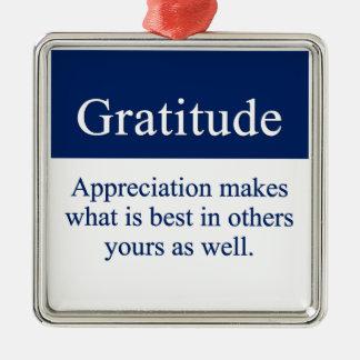 La gratitud pone en evidencia el mejor ornamente de reyes