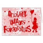 la gravedad juega a favoritos felicitación