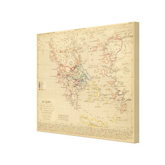 La Grece et partie de l'Asie Mineure, av JC 1190 Canvas Print