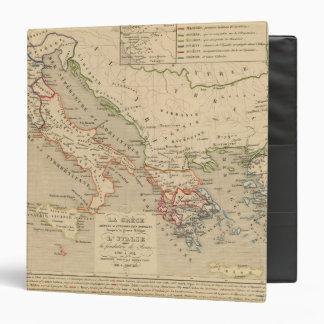 """La Grece, l'Italie, 1190 504 sistemas de pesos Carpeta 1 1/2"""""""