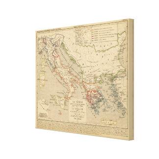 La Grece, l'Italie, 1190 a 504 av JC Canvas Print