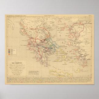La Grece y partie de l'Asie Mineure, sistema de pe Posters