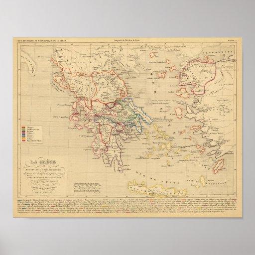 La Grece y partie de l'Asie Mineure, sistema de pe Póster