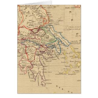 La Grece y partie de l'Asie Mineure, sistema de pe Tarjetón