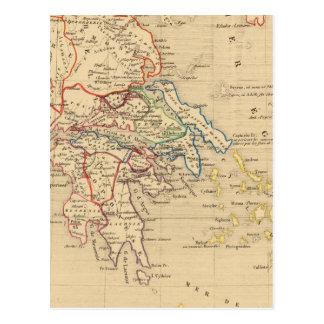 La Grece y partie de l'Asie Mineure, sistema de pe Postal