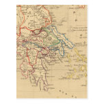 La Grece y partie de l'Asie Mineure, sistema de Postales