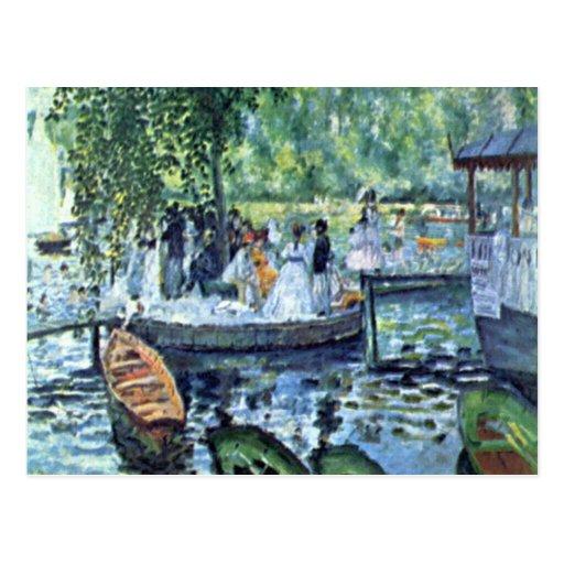 La Grenouillere1 by Pierre Renoir Post Card