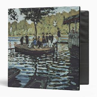 La Grenouillere 1869 oil on canvas Vinyl Binder