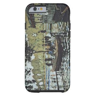 La Grenouillere 1869 oil on canvas iPhone 6 Case