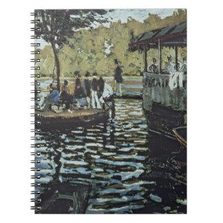 La Grenouillere 1869 oil on canvas Spiral Note Book