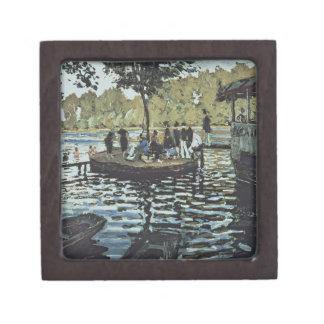 La Grenouillere 1869 oil on canvas Premium Keepsake Boxes