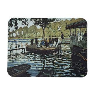 La Grenouillere 1869 oil on canvas Rectangle Magnets