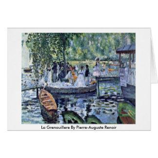 La Grenouillere By Pierre-Auguste Renoir Card