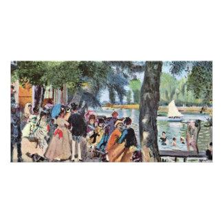 La Grenouillère By Pierre-Auguste Renoir Custom Photo Card