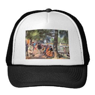 La Grenouillere by Pierre Renoir Mesh Hats