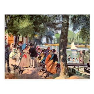La Grenouillere by Pierre Renoir Postcard