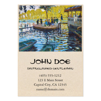 La Grenouillere Claude Monet fine art painting Large Business Cards (Pack Of 100)
