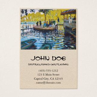La Grenouillere Claude Monet fine art painting Business Card