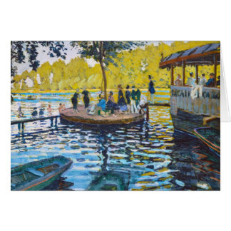 La Grenouillere Claude Monet fine art painting Card