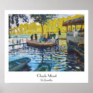 La Grenouillere Claude Monet fine art painting Poster