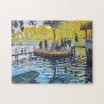 La Grenouillere Claude Monet fine art painting Jigsaw Puzzles