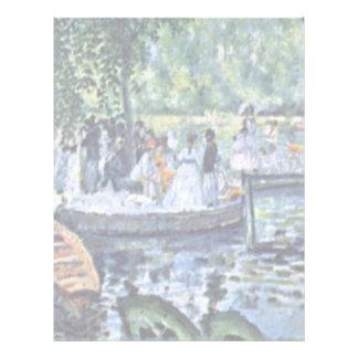 La Grenouillere de Pierre-Auguste Renoir Membretes Personalizados
