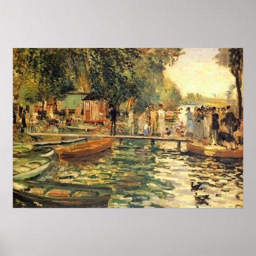 La Grenouillere por el poster de Renoir