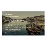 La Greve, Nantes, France vintage Photochrom Business Cards