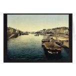 La Greve, Nantes, France vintage Photochrom Greeting Card