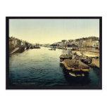 La Greve, Nantes, France vintage Photochrom Postcard