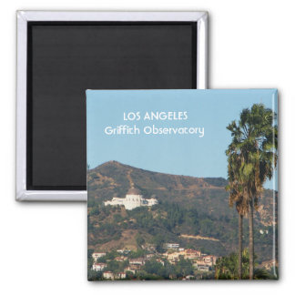 LA Griffith Observatory Magnet! 2 Inch Square Magnet