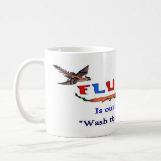 La gripe aviar suelta taza